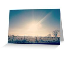 Morning glory in the valley Greeting Card