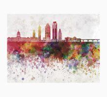 Austin skyline in watercolor background Baby Tee