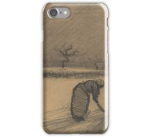 Woman with a Fork in a Winter Landscape Nuenen, December Vincent van Gogh iPhone Case/Skin
