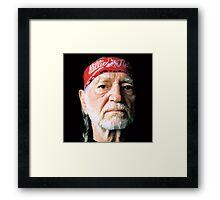 WILLIE NELSON TEL01 Framed Print