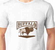Buffalo American Bison Side Woodcut Unisex T-Shirt