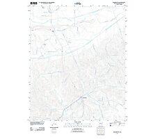 USGS TOPO Map Arkansas AR Washington 20110711 TM Photographic Print