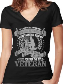 Veteran - Forever The Title Women's Fitted V-Neck T-Shirt