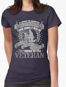 Veteran - Forever The Title Womens Fitted T-Shirt