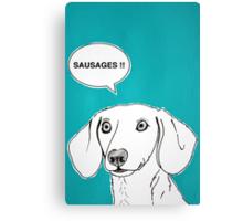 Sausages ( Teal ) Canvas Print