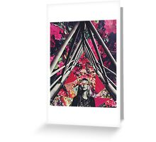 Fuchsia Floral Kate Collage Greeting Card