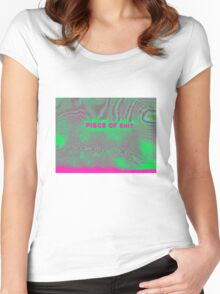 piece of shti in technicolor Women's Fitted Scoop T-Shirt