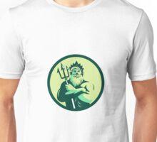 Triton Arms Crossed Trident Circle Retro Unisex T-Shirt
