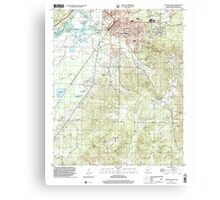 USGS TOPO Map Arkansas AR Malvern South 259001 2000 24000 Canvas Print