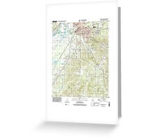 USGS TOPO Map Arkansas AR Malvern South 259001 2000 24000 Greeting Card