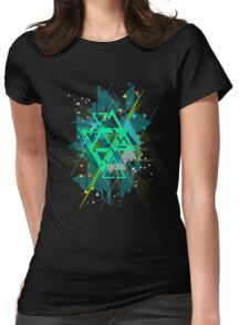 Digital Abstract Geometric Supreme Blast Womens Fitted T-Shirt