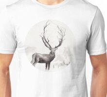 Art Illustration - Deer in the fog Unisex T-Shirt