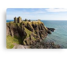 Dunnottar Castle Scotland Postcard Canvas Print