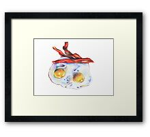 bacons and eggs Framed Print