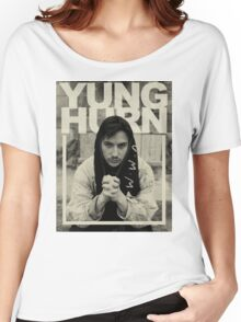 YUNG HURN Women's Relaxed Fit T-Shirt