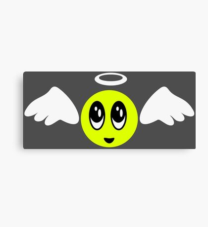Angel Smiley (yellow) VRS2 Canvas Print