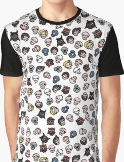 The Binding of Isaac characters pattern Graphic T-Shirt