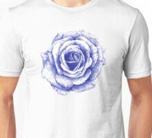 Ballpoint Blue Rose Unisex T-Shirt