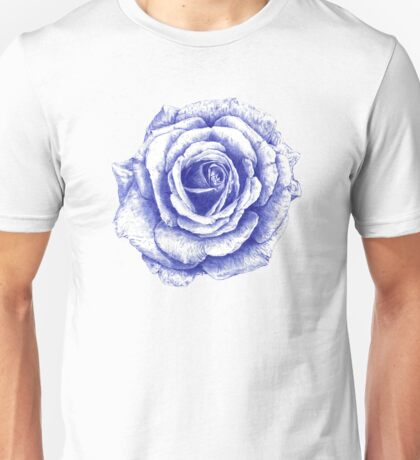 Ballpoint Blue Rose Unisex T-Shirt