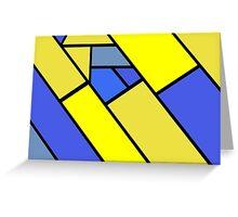 Mustard Yellow Navy Greeting Card