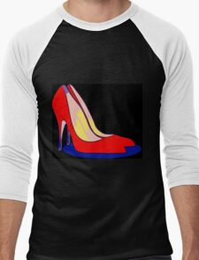 All You Need is Red Pumps Men's Baseball ¾ T-Shirt