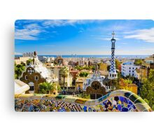 Colorful Barcelona Canvas Print