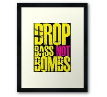 Drop Bass Not Bombs (Yellow)  Framed Print
