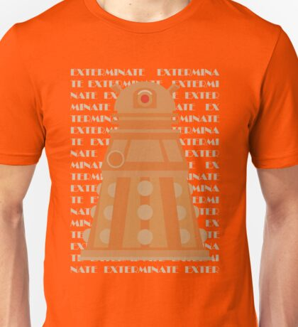 Exterminate Orange Unisex T-Shirt