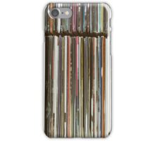 Top View Of Old Vinyl Record Cases iPhone Case/Skin