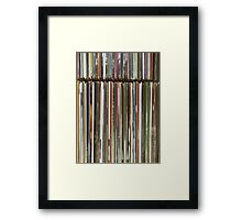 Top View Of Old Vinyl Record Cases Framed Print