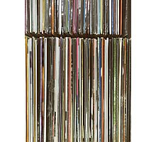 Top View Of Old Vinyl Record Cases Photographic Print
