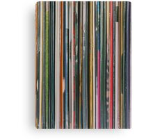 Top View Of Old Vinyl Record Cases Canvas Print