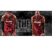 LeBron James x Dwyane Wade - The Brotherhood Photographic Print
