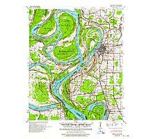 USGS TOPO Map Arkansas AR Refuge 260275 1939 62500 Photographic Print