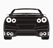 Rear Tail Light Tee / Sticker for R35 Nissan GTR enthusiasts - Black Kids Tee