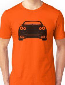Rear Tail Light Tee / Sticker for R35 Nissan GTR enthusiasts - Black Unisex T-Shirt
