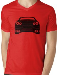 Rear Tail Light Tee / Sticker for R35 Nissan GTR enthusiasts - Black Mens V-Neck T-Shirt