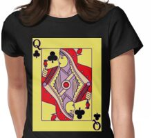 Queen of Clubs Womens Fitted T-Shirt