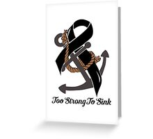 Nautical Themed Melanoma Ribbon Greeting Card