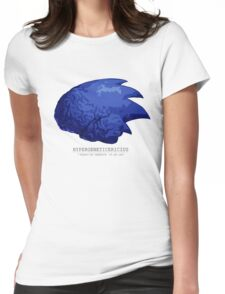 Sonic Brain 2D Womens Fitted T-Shirt