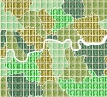 London Boroughs Map - Green Sticker