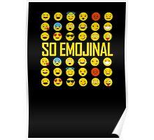 So Emojinal - Emoji Pattern Poster