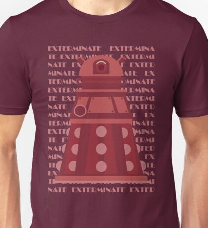 Exterminate Red Unisex T-Shirt