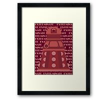 Exterminate Red Framed Print