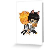 Kitty Chibi Greeting Card