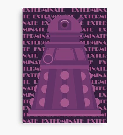 Exterminate Purple Canvas Print
