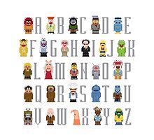 Muppet Alphabet by Sergey Vozika