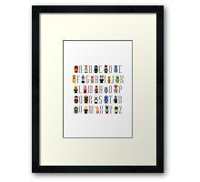 Muppet Alphabet Framed Print