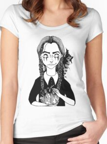 Black Wednesday Women's Fitted Scoop T-Shirt