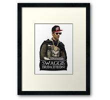 Swaggis Broatheon (Stannis Baratheon) swag game of thrones Framed Print